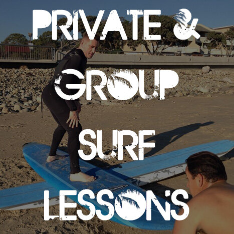PRIVATE AND GROUPS SURF LESSONS